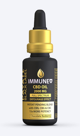 Pavate Black Label SpecialtyIimmune CBD Tincture 2000mg