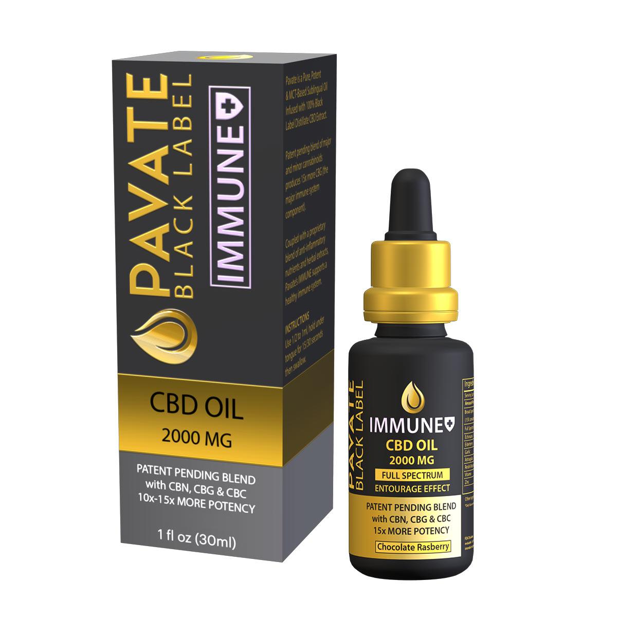 pavate-black-label-immune-cbd-tincture-2000mg-bottle+box