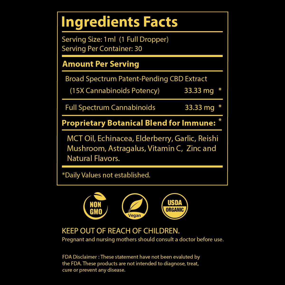 pavate-black-label-immune-cbd-tincture-2000mg-ingredients