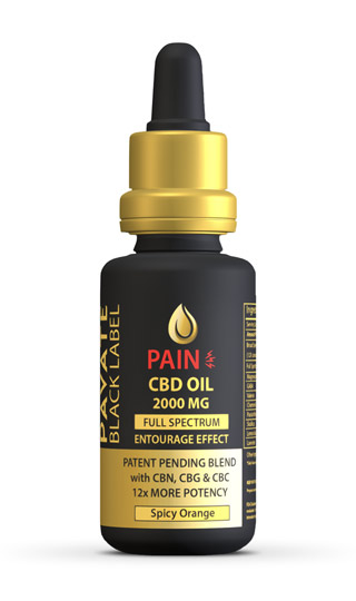 Pavate Black Label Specialty Pain CBD Tincture 2000mg