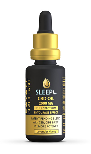 Pavate Black Label Specialty Sleep CBD Tincture 2000mg