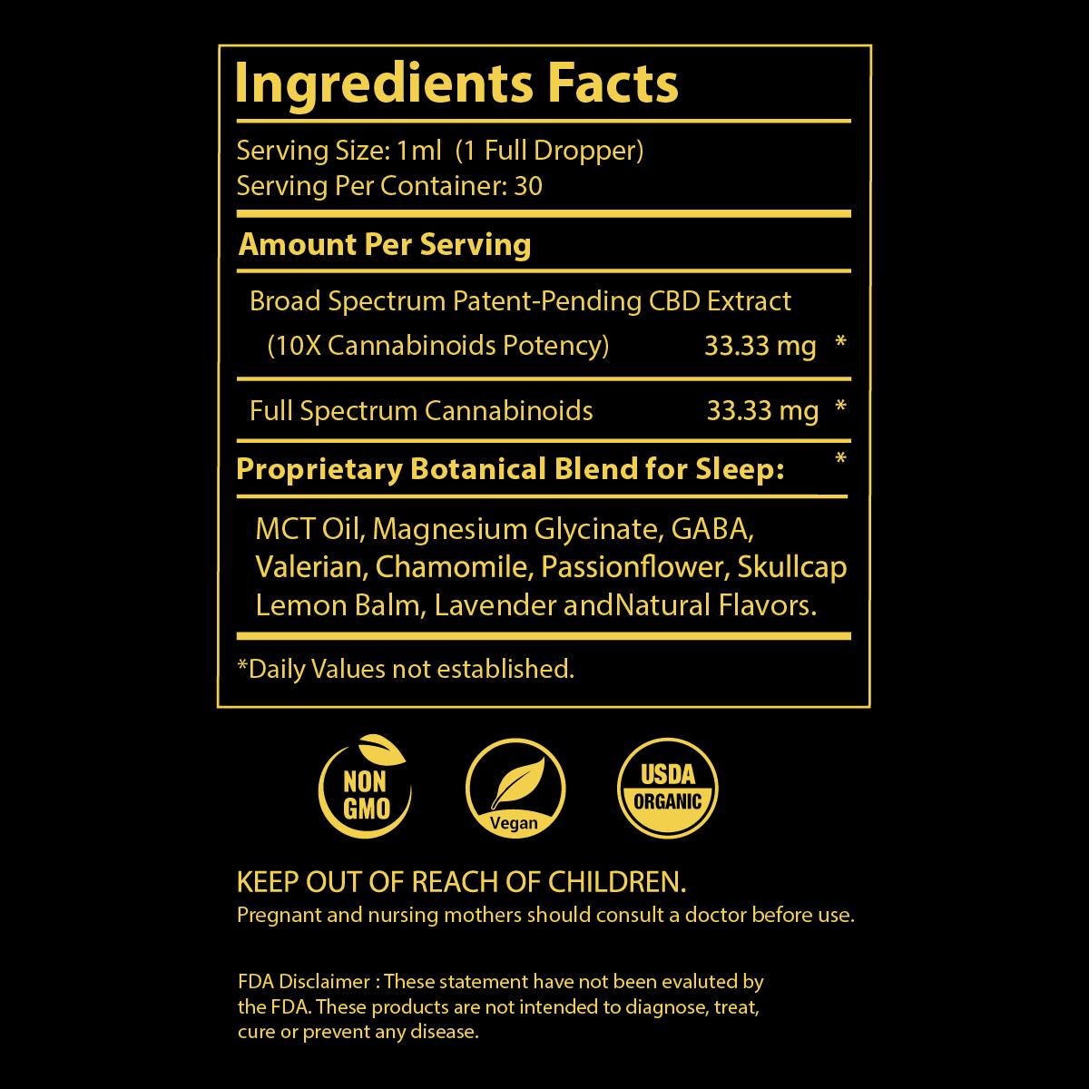 pavate-black-label-sleep-cbd-tincture-2000mg-ingredients
